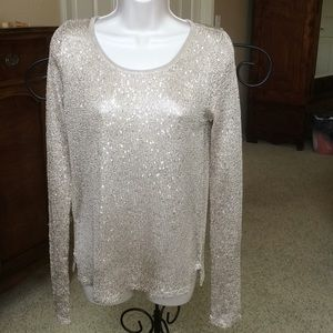 Gold sweater with sequins